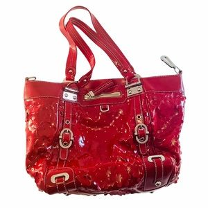 rafe New York Handbag Red Patent Leather Bag